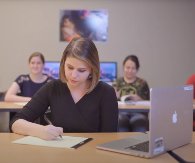 Student at desk